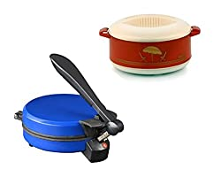 GTC COMBO OF DETACHABLE BLUE ROTI MAKER WITH CASSEROLE