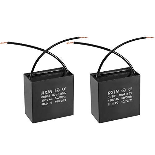 REFURBISHHOUSE 10 Pcs 400V 0.22uF condensateurs de film de polypropylene metallise au plomb radial