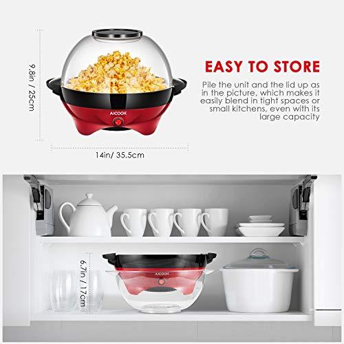 Aicook – Popcornmaschine – mit Heizplatte - 5
