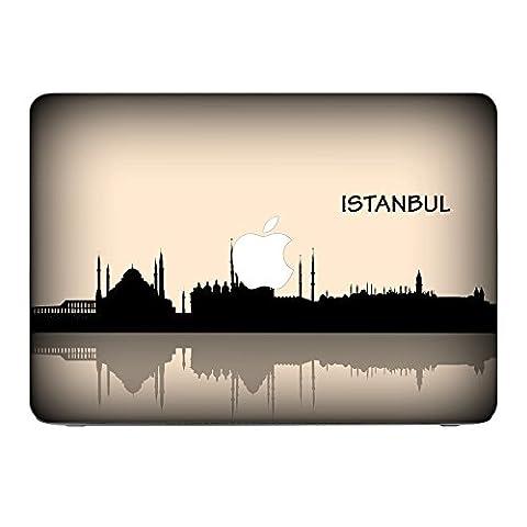 Voyage Istanbul, Turkey, Skin-Aufkleber Folie Sticker Laptop Vinyl Designfolie Decal mit Ledernachbildung Laminat und Farbig Design für Apple MacBook Pro