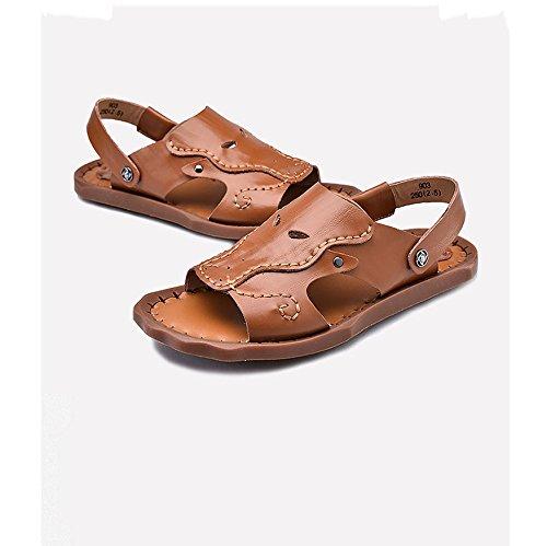 Sandales pour hommes chaussures de plage antidérapantes sandales en cuir juvénile US8/EU40/UK7/CN41