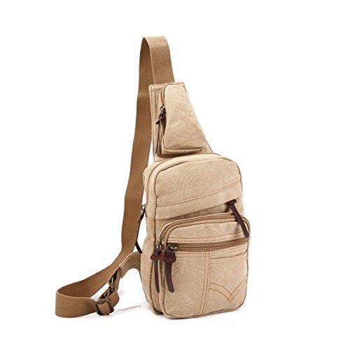 Bulage Pack Fresco Uomo Borse Petto Borse Tela Borsa Casuale Spalla  Studenti Esterno Sport Moda Leggero ... be7d70af91e