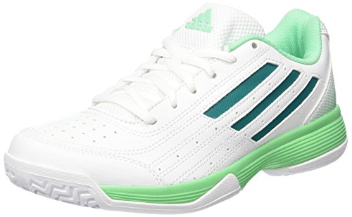 adidas Sonic Attack, Chaussures de Tennis Femme Blanc - Weiß (Ftwr White/Eqt Green S16/Green Glow S16)
