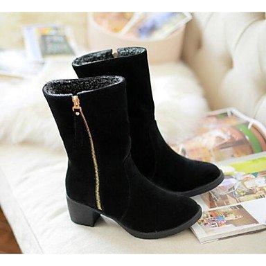 RTRY Scarpe Donna Nabuck Pelle Pu Fall Winter Snow Boots Fashion Stivali Stivali Tacco Piatto Babbucce/Stivaletti Di Abbigliamento Casual Esercito Marrone Verde US7.5 / EU38 / UK5.5 / CN38