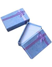Chytaii Caja de Regalo Exquisito para Joyería Colgantes Collar Paquete de 5 Violeta