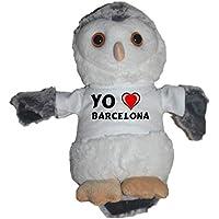 Shopzeus Búho de Peluche con Amo Barcelona en la Camiseta (Ciudad / asentamiento)