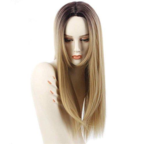 AN-LKYIQI Heißer Verkauf Europa Gerade lange Haare Mädchen synthetische Perücke Perücken , r4/27# Synthetische Ganzen Lace Perücke