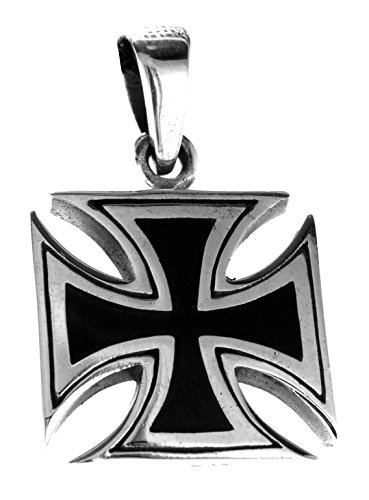 Kiss of Leather Eisernes Kreuz Anhänger aus 925 Sterling Silber Nr. 333 -