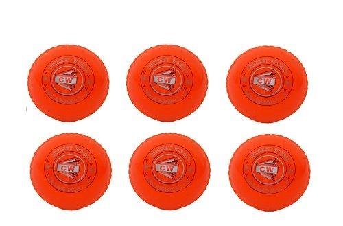 CW 6Stück WIND PVC orange Sports Outdoor/Indoor Cricket Ball für allgemeine Training & Praxis, Coaching
