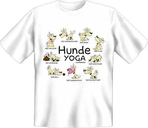 Hunde Sprüche - Yoga - Fun T-Shirt 100% Baumwolle - Größe M