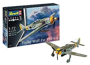 Revell- Focke Wulf FW190 F-8 Maqueta Avión de Guerra, 10+ Años, Multicolor (03898)