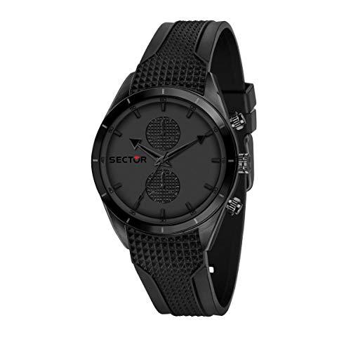 Sector 9 Hommes Analogique Quartz Montre avec Bracelet en Silicone R3251516002