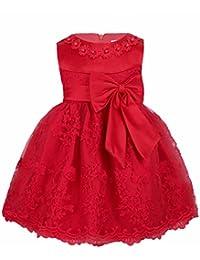 iiniim Baby Mädchen Prinzessin Kleid Blumenmädchenkleid Taufkleid Festlich Kleid Hochzeit Partykleid Festzug Babybekleidung Gr. 68-92