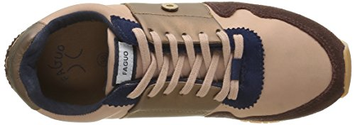 Faguo Damen Olive Low-Top Rot - Rouge (F1680 Porto/Bronze)