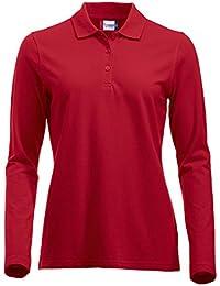 Langärmliges, klassisches Polo-Shirt für Damen, Baumwolle, moderne  Passform, 11 lebendige 121e555681