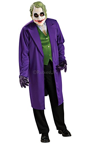 Dark Knight Joker Kostüm Das - Mens Erwachsene Joker Batman Dark Knight Marvel Superhelden Kostüm OUTF