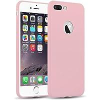 iPhone 8 Plus, iPhone 7 Plus Silikonhülle | JAMMYLIZARD Ultra Slim Skin Case Hülle 0.8mm [Jelly Cover] Schutzhülle aus mattem TPU-Silikon, Rosa Pink