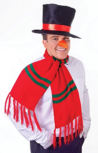 Kostüm Zubehör Schneemann - Bristol Novelty DS144 Schneemann Accessoiren, weiß, Einheitsgröße