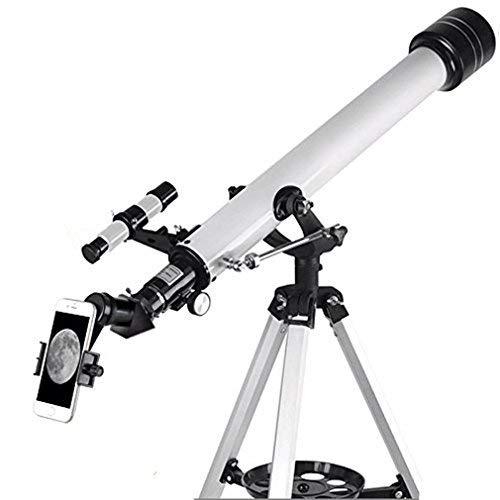 Solomark Telescopio, Telescopio rifrattore AZ da 60mm con adattatore per digiscoping Smartphone da 10mm - Kit starter per rifrattore AZ e Travel Detector da 60mm AZ (60700 Telescopio)