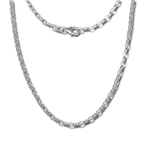 SilberDream oval Halskette silber Schmuck 70cm Erbskette 925 Silber SDK20970