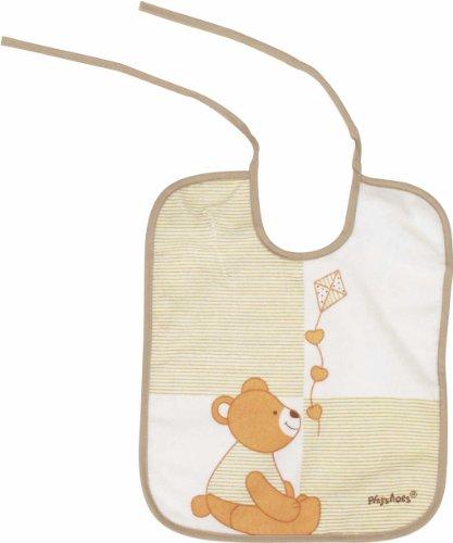 Imagen 1 de Playshoes 507195-621 - Babero, diseño de oso, 28 x 24 cm, color marrón