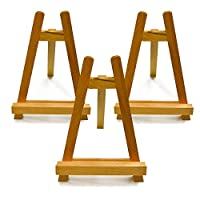 The Art Shop Skipton Grizedale Wooden A-Frame Table Display Easels Set of 3