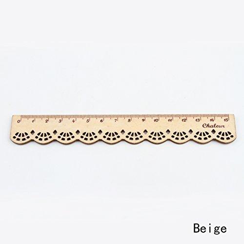 1Korea kawaii Cute Stationery Spitze Braun Holz Lineal Nähen Lineal