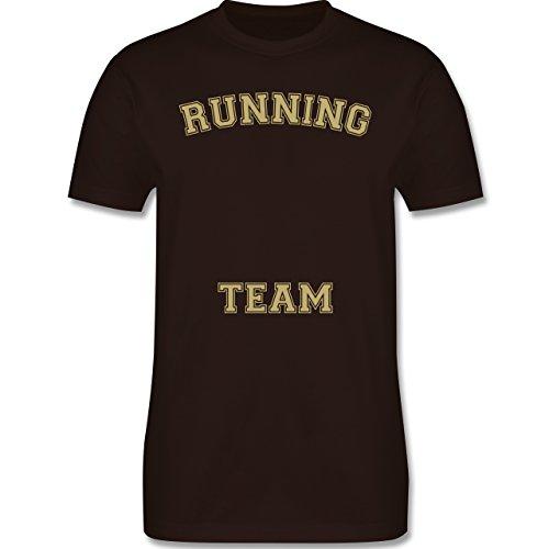 Laufsport - Running Team - Herren Premium T-Shirt Braun