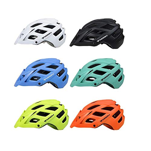 TKTTBD Leicht Fahrradhelm, Verstellbar Specialized Fahrradhelm Erwachsene, Radhelm Mountainbike Helm mit Abnehmbarem Visier Trekking City Skating Skateboarding...