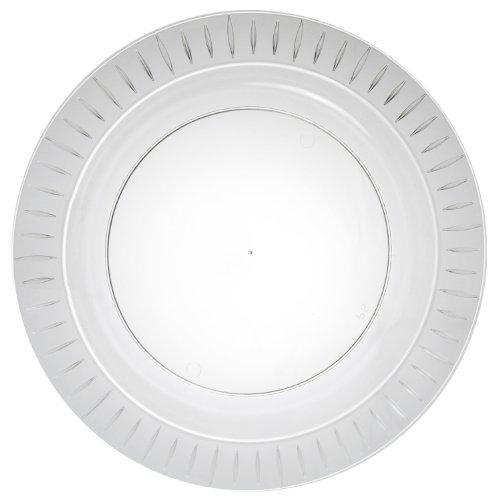 speisen-Teller, aus Hartplastik, rechteckig, transparent, 24 Stück 10.25-Inch / 14-Count farblos ()