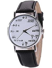 Vovotrade preguntas de examen de matemática niño de la escuela chica de cuero de acero inoxidable reloj de…