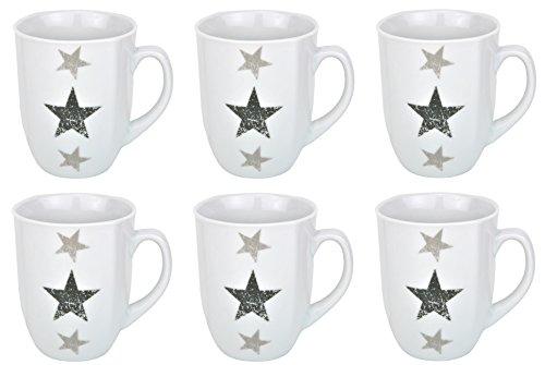6er Set Kaffeebecher Stars 33cl