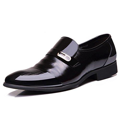 Inglese Affari Abiti Calzature Scarpe Da Uomo Primavera E Autunno Scarpe Di Cuoio Di Alta Qualità Cuoio Puntale Casual Uomini Black
