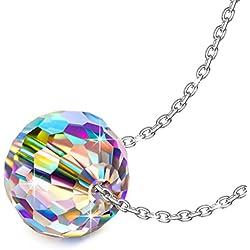 Colgante libre de alérgenos con Cristal de Swarovski geométrico