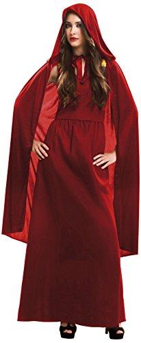 My Other Me - Disfraz de hechicera malvada para mujer, M-L, color rojo (Viving Costumes 202065)