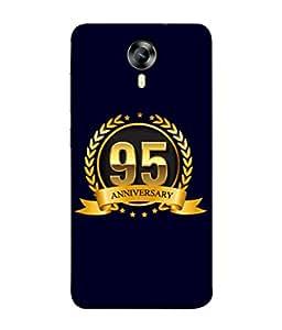 Micromax CanvasNitro4G E371 Back Cover 95th Aniversary Golden Logo Design From FUSON