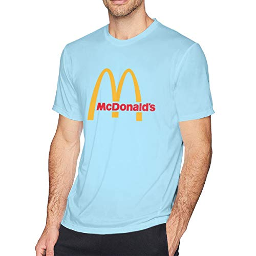 Herren Sommer T-Shirt McDonalds Logo T-Shirt Freizeithemden Für Herren Big Boys Kurzarm Rundhals Baumwolle Sport Tops Blau 6XL