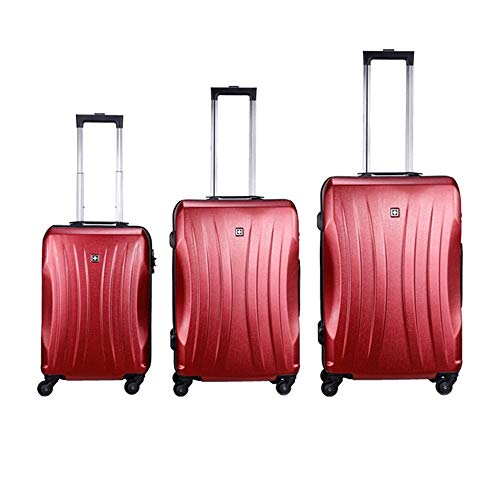 Mode Koffer Koffer 20in 24in 28in Gepäck 3-teiliges Set Koffer Spinner Hardshell Leichte, verschachtelte Sets Carry-on Uprights Koffer 360 ° Silent Spinner Multidirektionale Räder für Männer Frauen Re