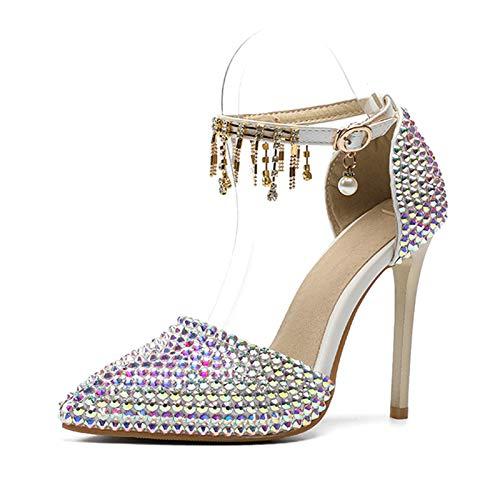 Hrcxue tacco a spillo scarpe da donna sexy colorate di cristallo scarpe da sposa autunno, colore, 33