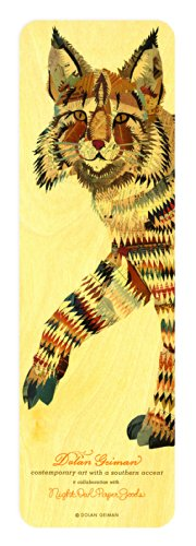 bobcat-wood-bookmark-by-dolan-geiman-and-night-owl-paper-goods