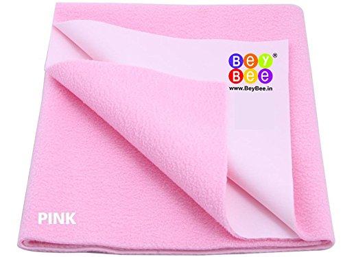 Bey Bee - Quick Dry Baby Bed Protector Waterproof Sheet (Pink) {Medium} {Size: 100cm X 70cm}