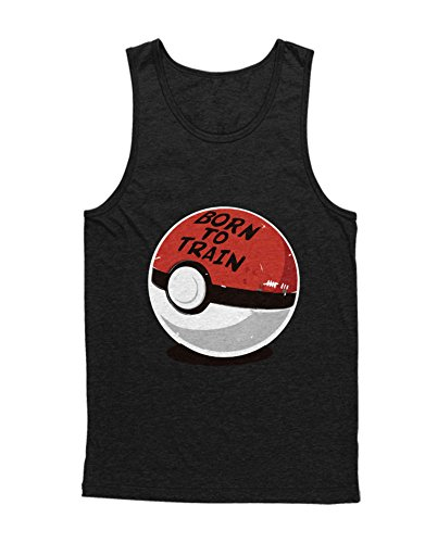 Tank-Top Poke Go Poke Ball Born to Train Team Rocket Jessie James Mauzi Kanto 1996 Blue Version Pokeball Catch 'Em All Hype X Y Blue Red Yellow Plus Hype Nerd Game C210004 Schwarz XXL