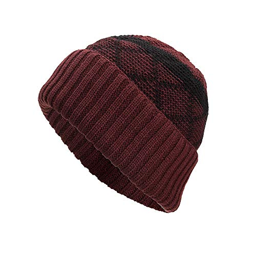 JUSTSELL ❤ Mütze Unisex Herbst Winter, Frauen Damen Herren Strickmützen Hut Farbe Patchwork Beanie Hütte Warm Kopfbedeckung Outdoor Kopfbedeckungen Faltbar Casual Mütze