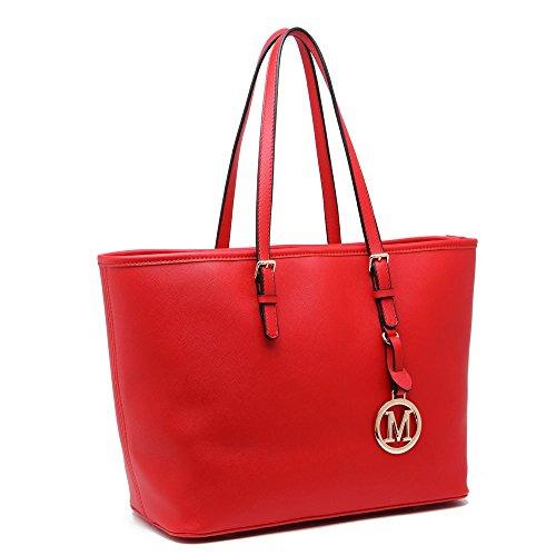 LeahWard® Damen Mode Desinger Große Größe Qualität Einkaufstasche Damen Modisch Handtasche CW00416 297 Red