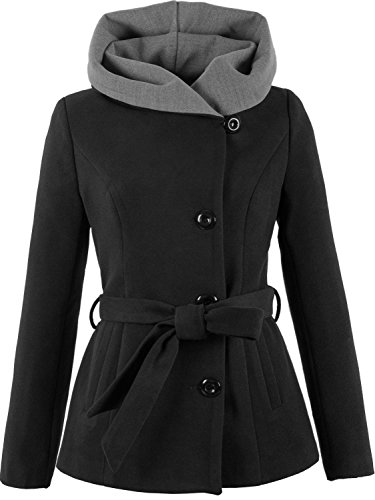 1281 Damen Wollmantel Wolljacke