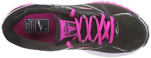 Brooks Aduro 3, Chaussures de Course Femme Noir - Schwarz (Phantom/NeonMagenta/Black)