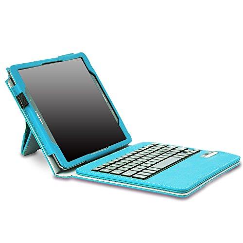 MoKo Samsung Galaxy Tab A 9.7 Funda - Wireless Bluetooth Teclado Funda Para Samsung Galaxy Tab A 9.7 Pulgadas 2015 Tableta, AZUL Claro