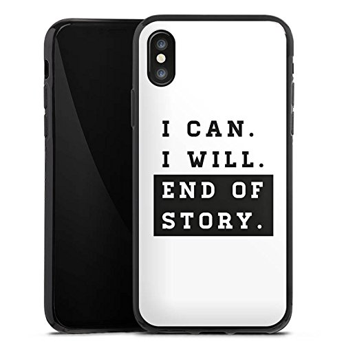 Apple iPhone X Silikon Hülle Case Schutzhülle Motivation Workout Fitness Silikon Case schwarz