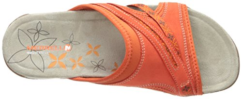 Merrell Terran Slide, Sandales Bout ouvert Femme Red Clay