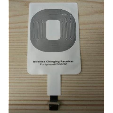 Ricevitore per ricarica Wireless per iPhone, 6/5/5s/5c, colore: bianco, compatibile con pad ricarica Q